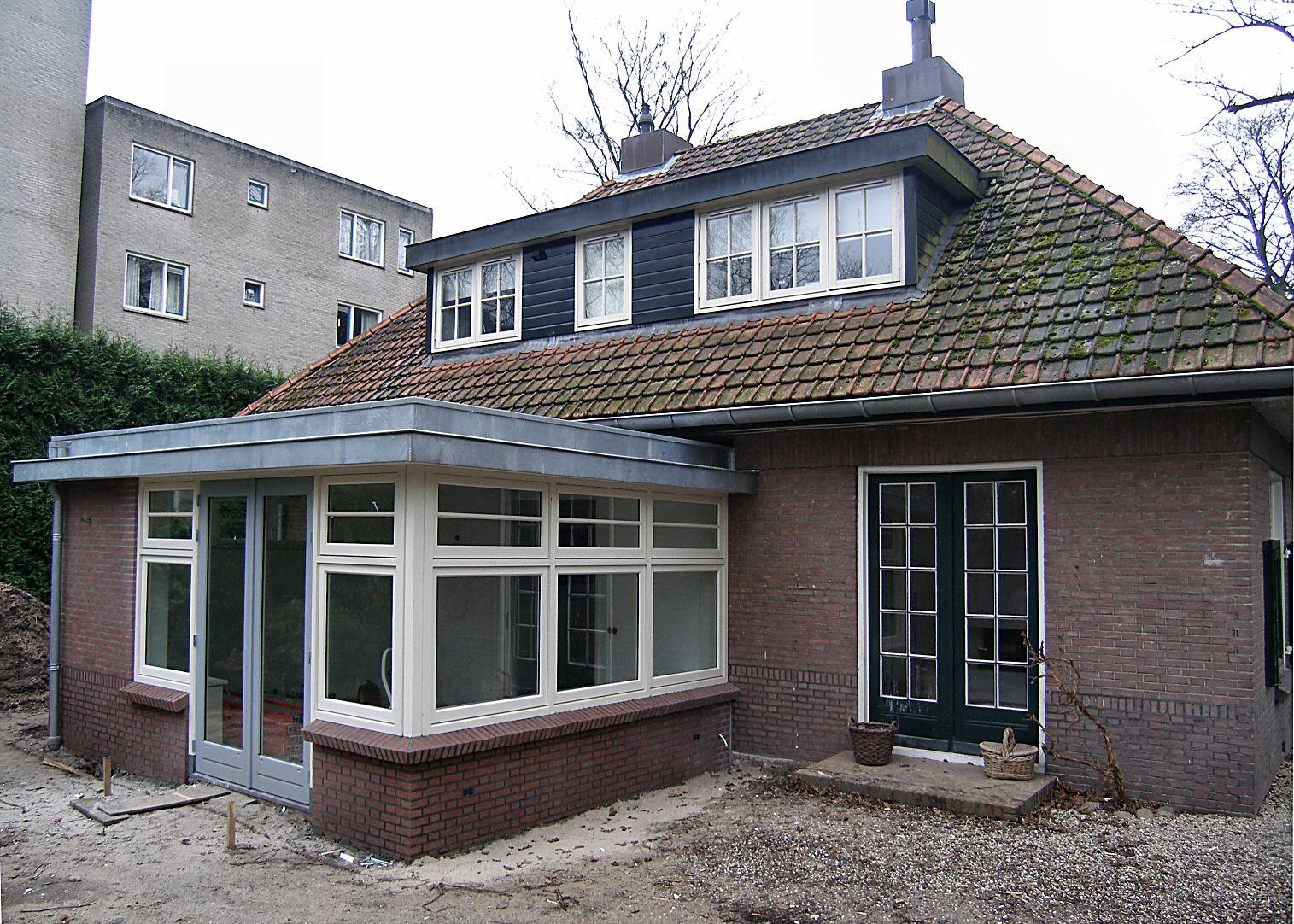 Amersfoort uitbreiding portierswoning architectenbureau van l ben sels - Geschilderd zink ...